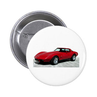 1979 Red Classic Car Pinback Button