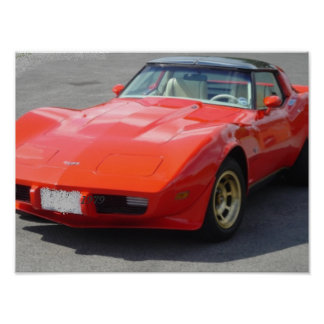 1979 Red Corvette Classic Posters