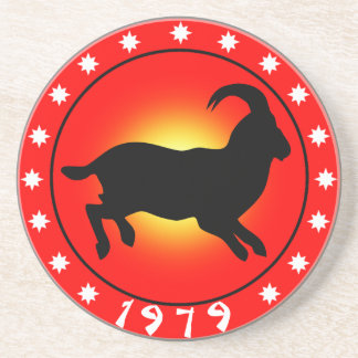 1979 Year of the Ram / Sheep / Goat Drink Coasters