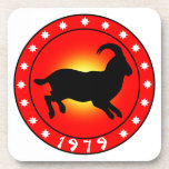 1979 Year of the Ram / Sheep / Goat Beverage Coasters