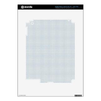197 LIGHT BLUE GREY GRAY NOTEBOOK SQUARES PLAID PA iPad 3 SKINS