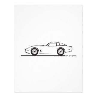 """1980-82 Chevrolet Corvette 8.5"""" X 11"""" Flyer"""