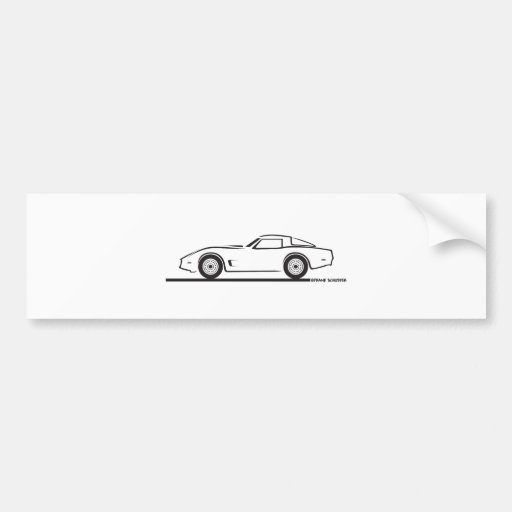 1980-82 Chevrolet Corvette Bumper Sticker
