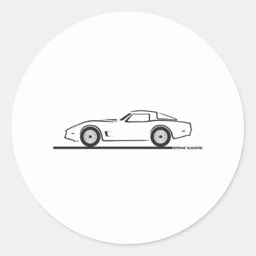 1980-82 Chevrolet Corvette Classic Round Sticker