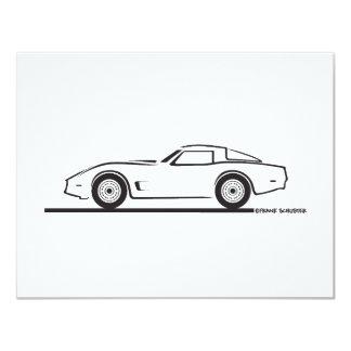 1980-82 Chevrolet Corvette 4.25x5.5 Paper Invitation Card