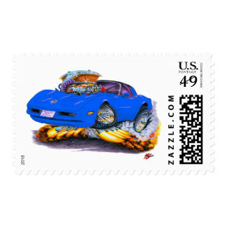 1980-82 Corvette Blue Car Postage