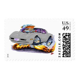 1980-82 Corvette Silver Car Postage