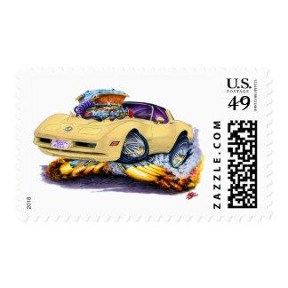 1980-82 Corvette Tan Car Postage
