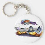 1980-82 Corvette White-Grey Car Keychain
