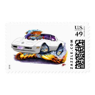 1980-82 Corvette White-Grey Car Postage