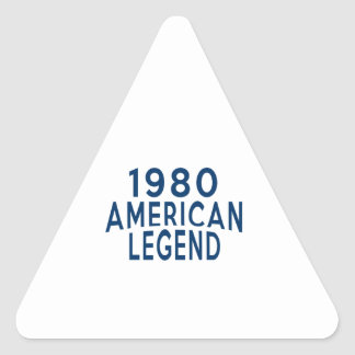 1980 American Legend Birthday Designs Triangle Sticker