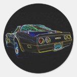 1980 Corvette Classic Round Sticker