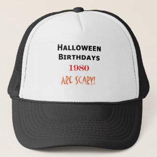 1980 halloween birthday trucker hat