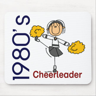 1980's Cheerleader Stick Figure Mouse Pad