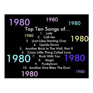 1980 Songs Postcard