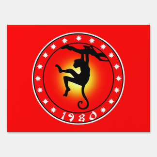 1980 Year of the Monkey Yard Sign