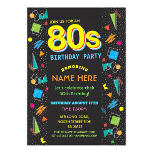 80s invitations zazzle
