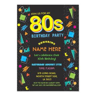 80s Party Invitations & Announcements | Zazzle
