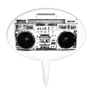 1980s Boombox Cake Topper