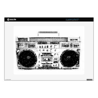 """1980s Boombox Decal For 15"""" Laptop"""