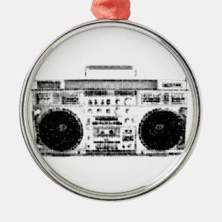 1980s Boombox Metal Ornament