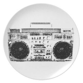1980s Boombox Plates