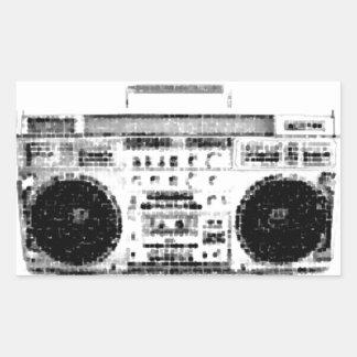 1980s Boombox Rectangular Sticker