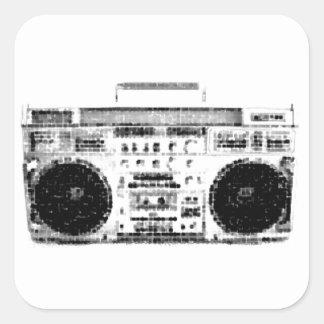 1980s Boombox Square Sticker
