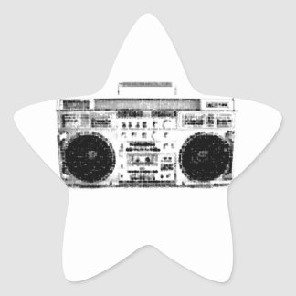 1980s Boombox Star Sticker