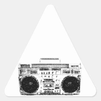 1980s Boombox Triangle Sticker