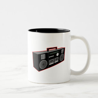 1980s Boombox Two-Tone Coffee Mug