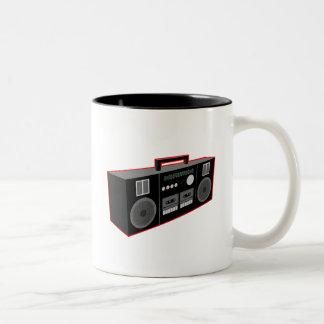 1980s Boombox Two-Tone Coffee Mug