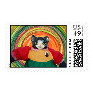 1980s Cat Doll Stamp