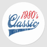 1980's Classic Birthday Sticker