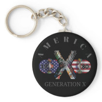 1980s Generation X American Skateboard Keychain