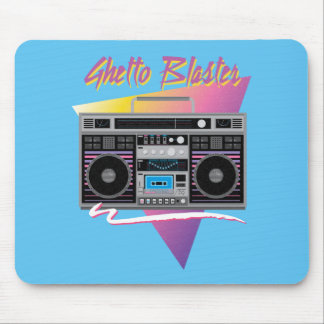 1980s ghetto blaster boombox mouse pad