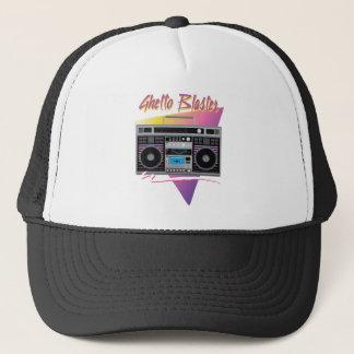 1980s ghetto blaster boombox trucker hat