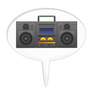 1980's Hip Hop Style Boombox Cake Topper