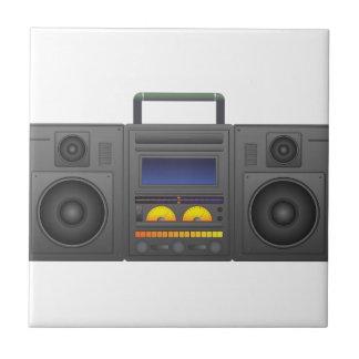 1980's Hip Hop Style Boombox Ceramic Tile