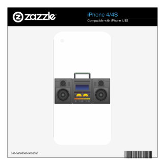 1980's Hip Hop Style Boombox Skin For The iPhone 4