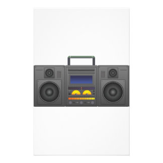 1980's Hip Hop Style Boombox Stationery