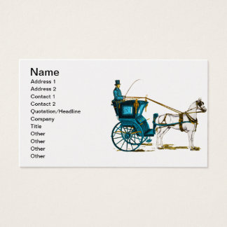 1980's Horse and Carriage Business Card