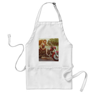 1980s Motorcycle Pinup Girl Adult Apron