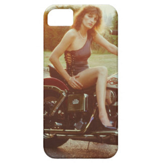 1980s Motorcycle Pinup Girl iPhone SE/5/5s Case