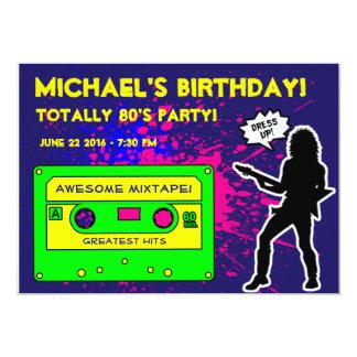 1980's Party Invitation, 80's Birthday Party, 80's Card