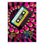 1980s Party Invitation Card With 80 color casette