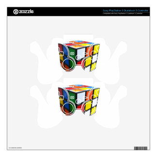 1980's Puzzle Cube PS3 Controller Decal