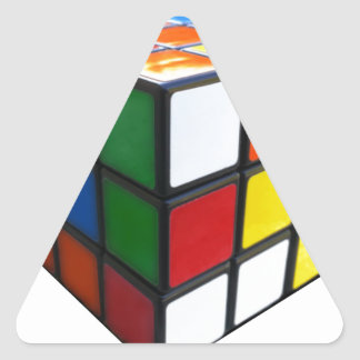 1980's Puzzle Cube Triangle Sticker
