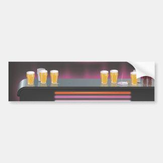 1980s Retro Bar Bumper Stickers