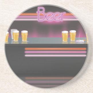 1980s Retro Bar Drink Coaster